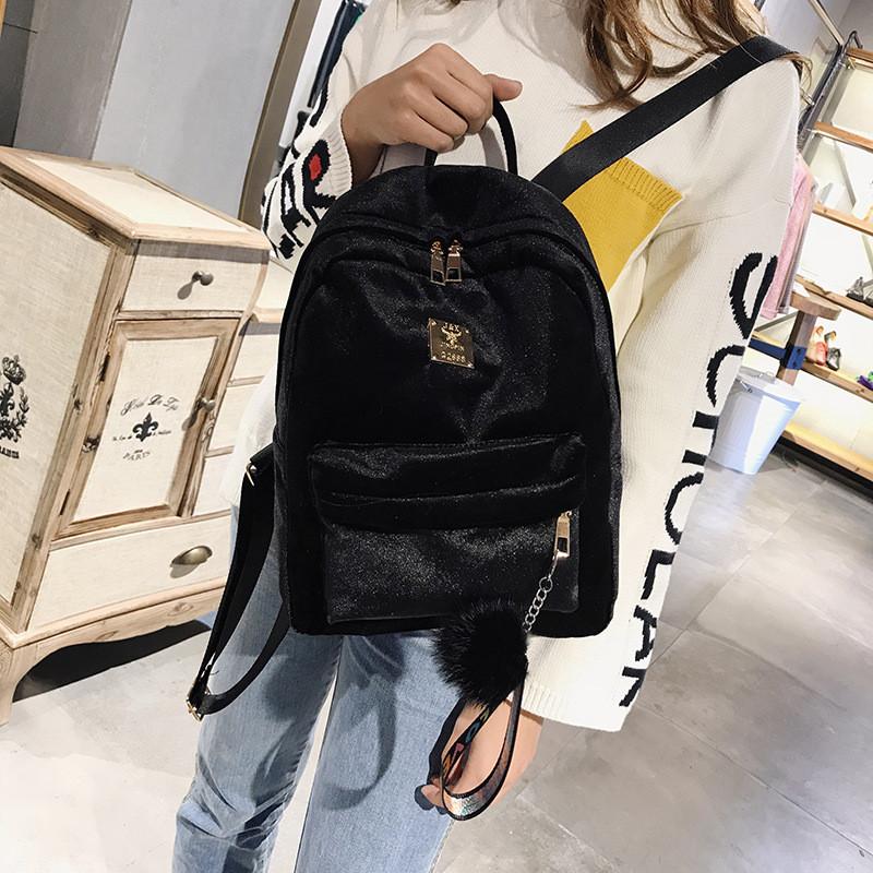 60f165dc9362 Женский рюкзак из ткани бархатный зелёный , цена 432,90 грн., купить в Киеве  — Prom.ua (ID#699787129)