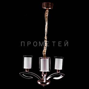 Класична люстра зі вбудованим LED підсвічуванням в ріжках на 3 лампочки E27. P15-P8022/3/GD