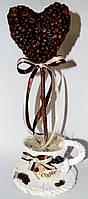 Композиция из кофейных зерен, оригинальный подарок, фото 1