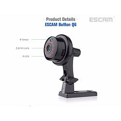 Камера миниатюрная IP Escam Button Q6 720p