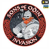 Нашивка M-Tac Sons of Odin 3D ПВХ черный/красный, фото 1