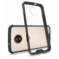Прозрачная поверхность противоударный Чехол назад ПК для Motorola Мото с g5s Чёрный