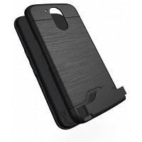Ударопрочный удобный Слот для карты Жесткий задний Чехол для Motorola Мото Г4 Чёрный