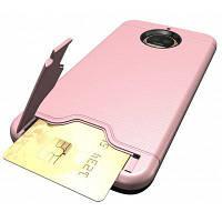 Ударопрочный удобный Слот для карты Жесткий задний Чехол для Motorola Мото с g5s плюс Розовый золотой