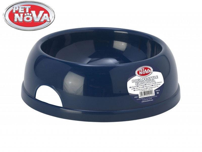 Миска для собак Pet Nova Р-EUROBOWL-1450-BL Синяя