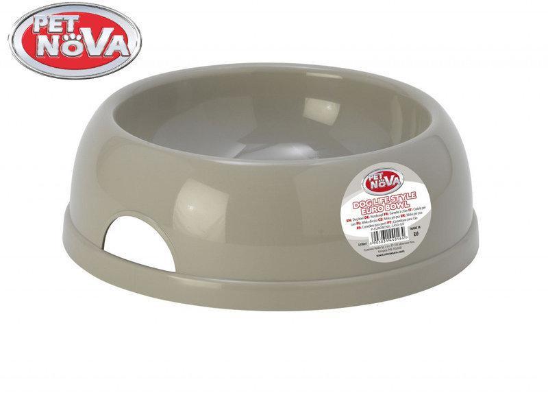 Миска для собак  Pet Nova Р-EUROBOWL-1450-GR Серая