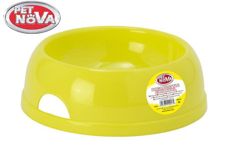 Миска для собак  Pet Nova Р-EUROBOWL-1450-YL Желтая