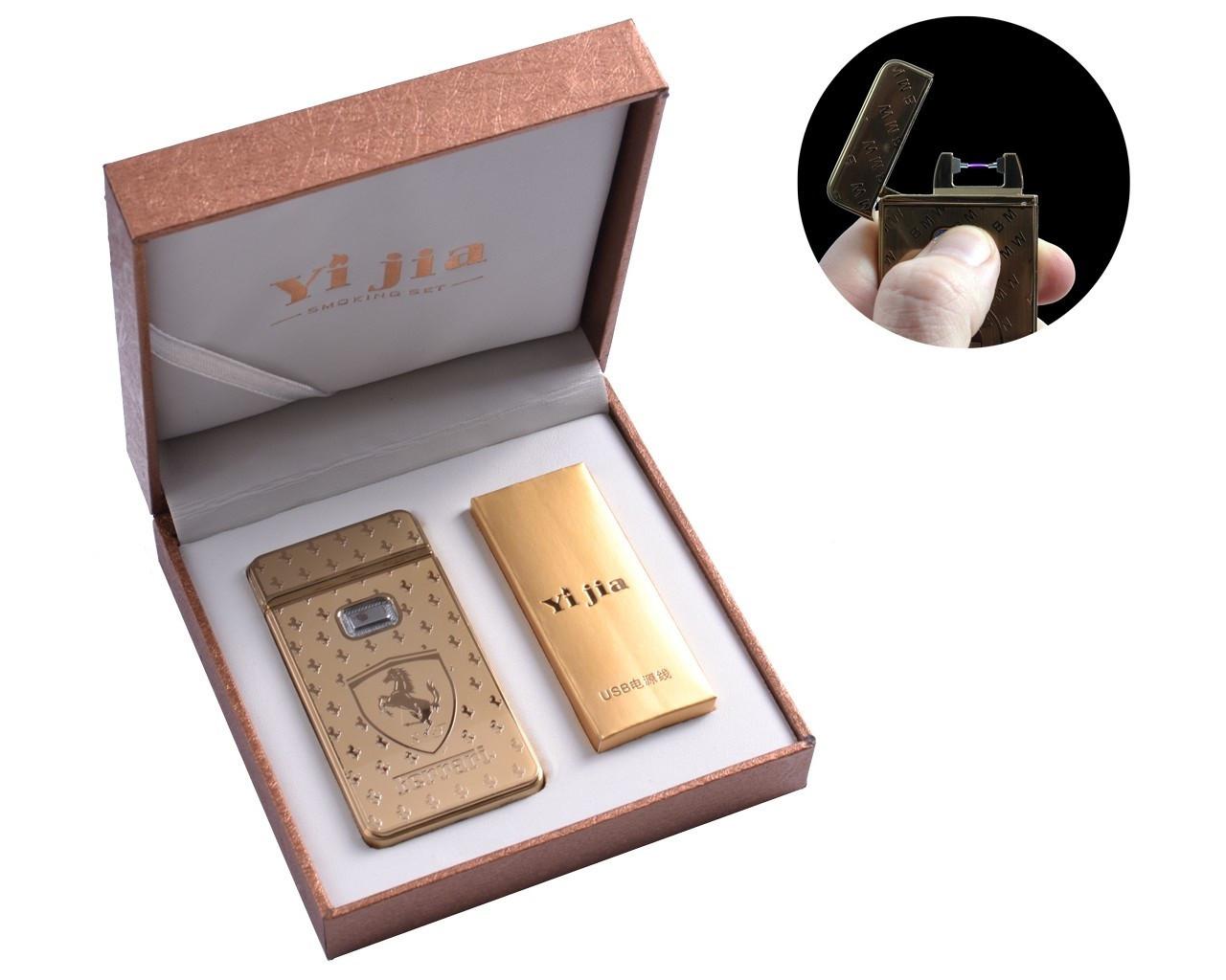 """Электроимпульсная USB зажигалка в подарочной упаковке """"Ferrari"""""""