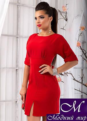 Женское осеннее деловое платье красное (р. S,M,L) арт. 9697, фото 2