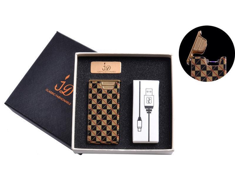 Электроимпульсная USB зажигалка в подарочной упаковке