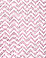 Подарочная бумага (упаковочная) белого цвета нежно-розовыми зигзагами
