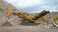 Мобильный скальпирующий грохот Keestrack сортировка строительных отходов