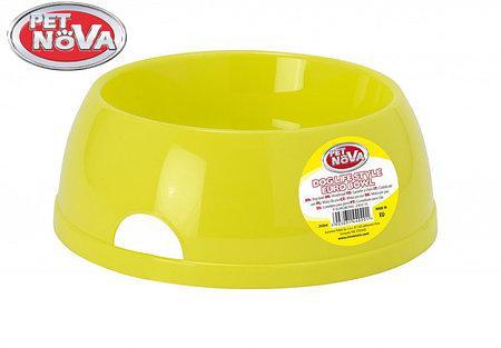 Миска для собак Pet Nova Р-EUROBOWL-2450-YL Желтая