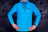 Весенняя куртка анорак найк (Nike), голубая