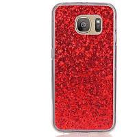 МК Покрынный порошок кожа все завернутый случай мобильного телефона TPU для Samsung S7 Пограничный Красный