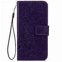 МК счастливый Клевер кобура лист карточки удостоверения личности PU кожаный чехол для Samsung телефон j120 / разъема J1 (2016) Фиолетовый
