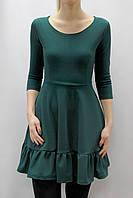 Платье с воланом по низу юбки