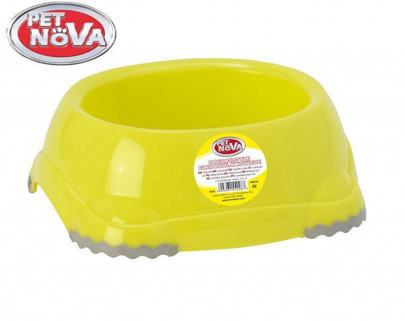 Миска для собак Pet Nova EUROBOWL-INNO-315-YL Желтая
