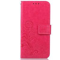 МК счастливый Клевер кобура лист карточки удостоверения личности PU кожаный чехол для Samsung S7 Пограничный розово-красный