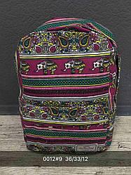 Жіночий, дитячий рюкзак візерунки, лінії, слони, квітковий