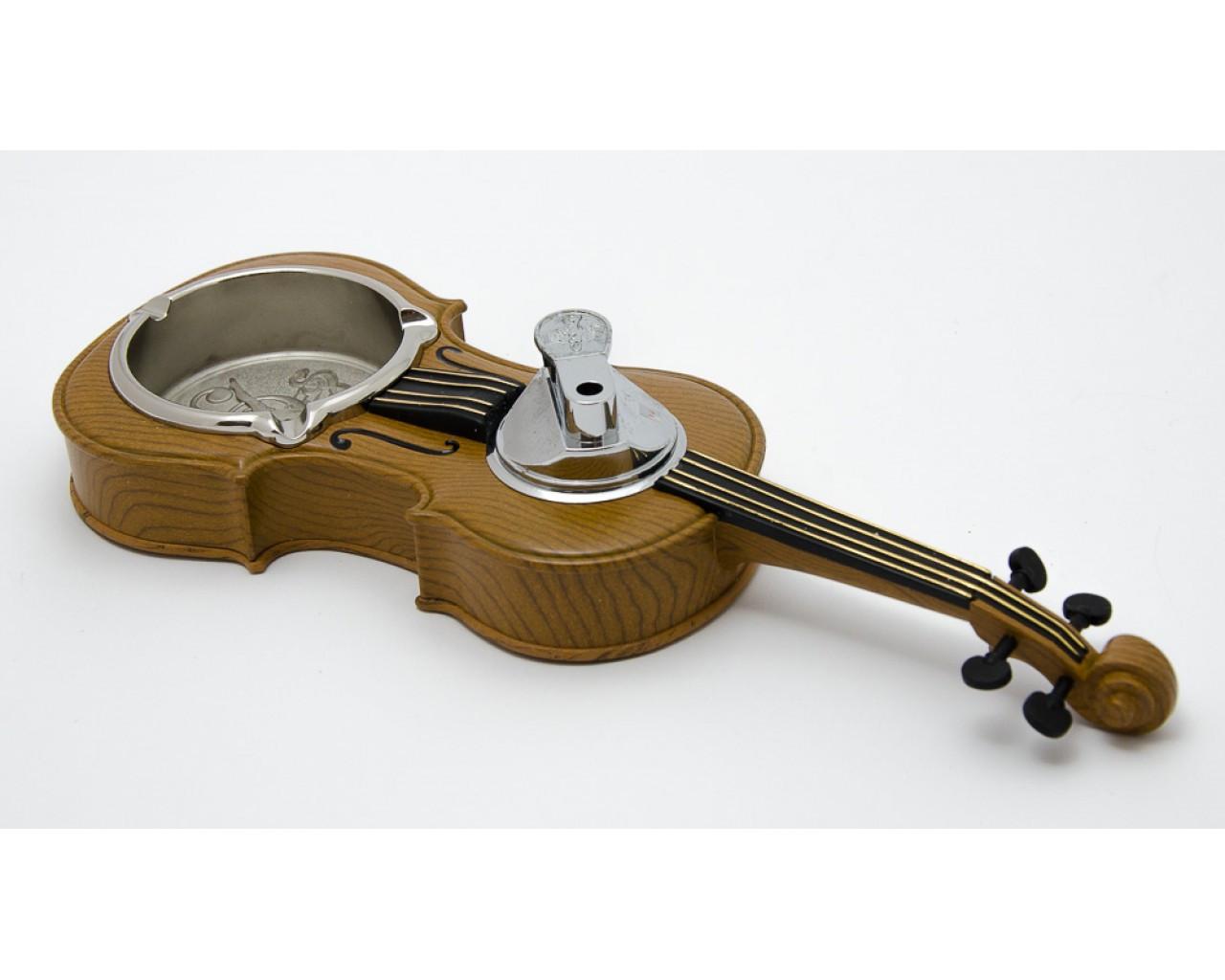 Зажигалка Скрипка с пепельницей