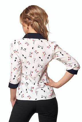 Нежная блуза в принт котики из софта , фото 2