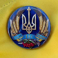 """Значок """"З нами Бог і Україна"""" (56 мм), фото 1"""
