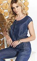 Женский летний комбинезон Missue Zaps джинсового цвета, коллекция весна-лето, фото 1