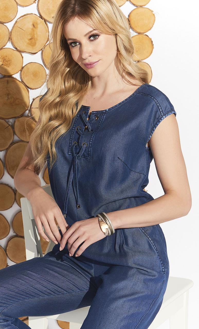 Женский летний комбинезон Missue Zaps джинсового цвета, коллекция весна-лето