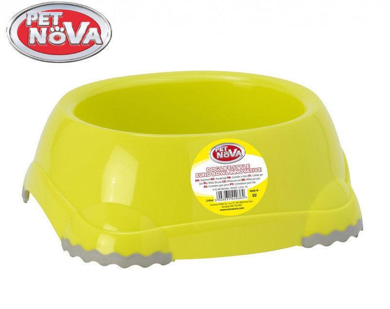 Миска для собак Pet Nova EUROBOWL-INNO-1245-YL Желтая