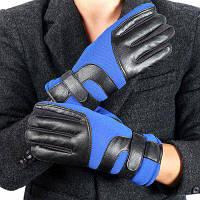 Мужчина Смски За Рулем Полосатый Толстые Теплые Открытый Перчатки Синий