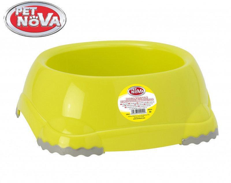 Миска для собак  Pet Nova EUROBOWL-INNO-2200-YL Желтая