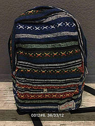 Жіночий, дитячий рюкзак візерунки, лінії, синій