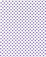 Подарочная бумага (упаковочная) белого цвета с фиолетовыми (сиреневыми) сердечками