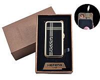 """USB + газовая зажигалка в подарочной упаковке (спираль накаливания, нормальное пламя) """"Абстракция"""""""