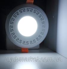 "LED панель Lemanso ""Грек"" LM555 круг  6+3W жёлтая подсв. 540Lm 4500K 85-265V, фото 1"