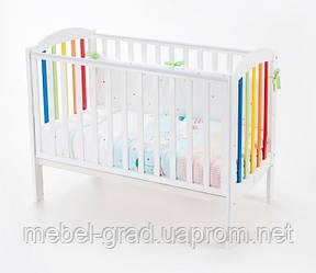 Ліжечко для новонароджених Соня ЛД 10 Верес білий - веселка