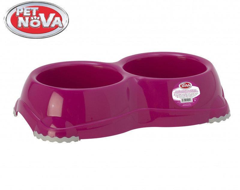 Двойная миска для собак Pet Nova EUROBOWL-INNO-2x330-PI Розовая