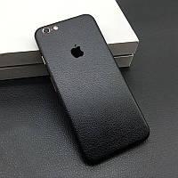Черная Кожа на iPhone 6 и 6s Виниловые Декоративные Наклейки Скин Защитная Пленка под Кожу 3D Винил Стикер