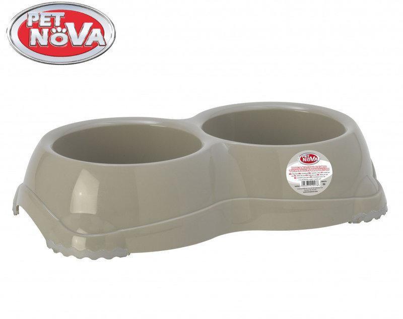Подвійна миска для собак Pet Nova EUROBOWL-INNO-2x645-GR Сіра