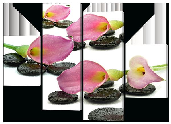 Модульная картина Камни.Цветы