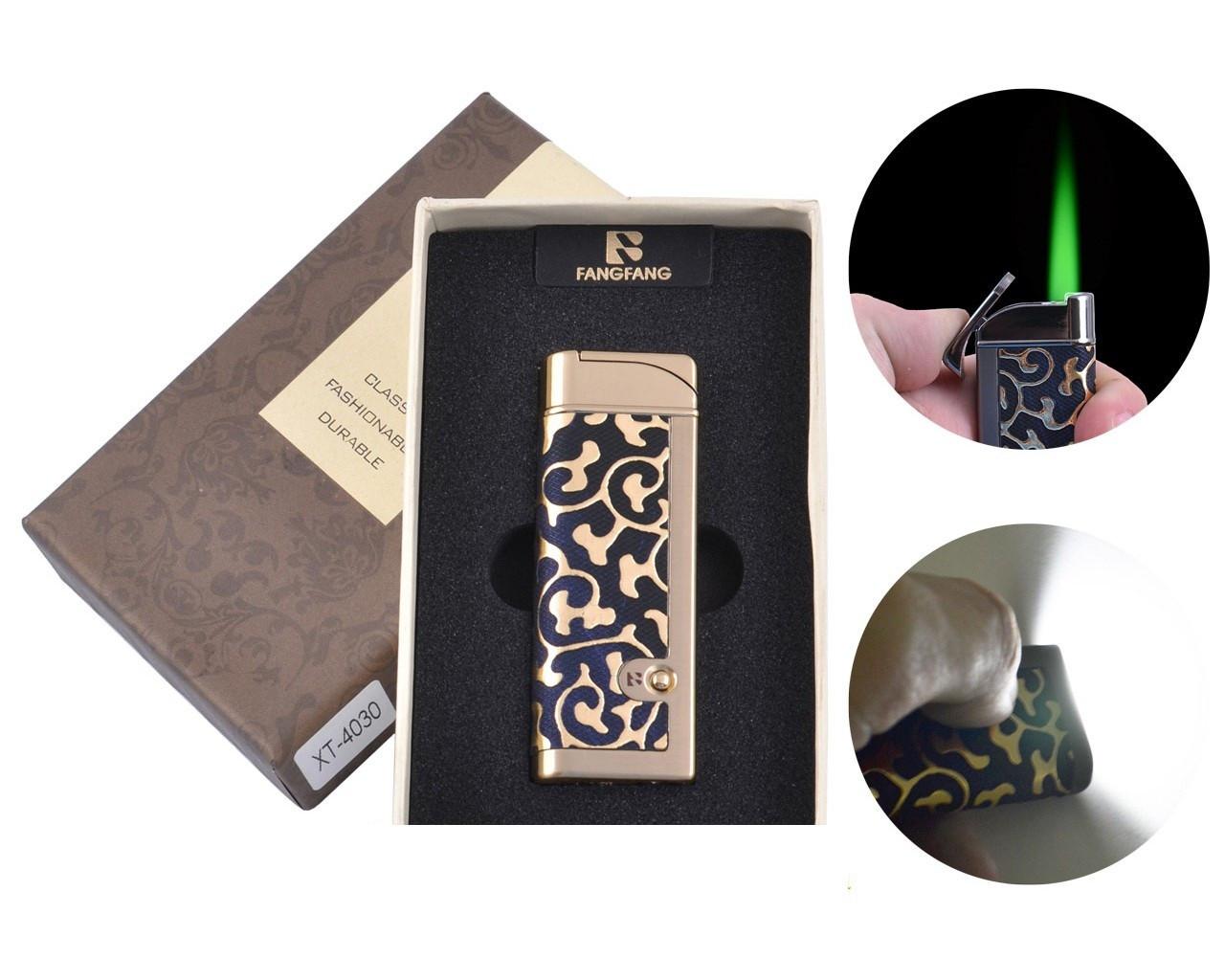Зажигалка в подарочной коробке FANGFANG Турбо пламя + фонарик