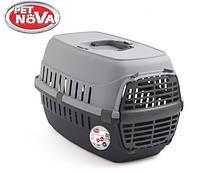 Контейнер-переноска для собак Pet Nova Comfortrans 48.5х32.3х30.1 см Серый
