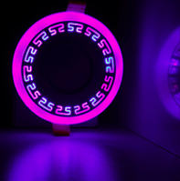 "LED панель Lemanso ""Грек"" LM543 круг 12+6W розовая подсв. 1080Lm 4500K 85-265V, фото 1"