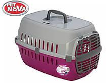 Контейнер-переноска для собак Pet Nova Comfortrans 48.5х32.3х30.1 см Розовый