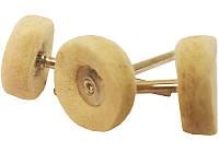 Полировальные круги из войлока для гравера 22 мм 3 предмета  FIT