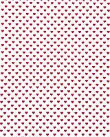 Подарочная бумага (упаковочная) белого цвета с бордовыми (малиновыми) сердечками