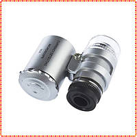 Микроскоп карманный светодиодный 6Х с подсветкой