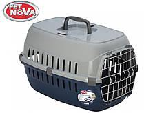 Контейнер-переноска для собак Pet Nova Securetrans 48.5х32.3х30.1 см Синий