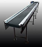 Ленточный конвейер длинной 1 м, ширина ленты 1000 мм